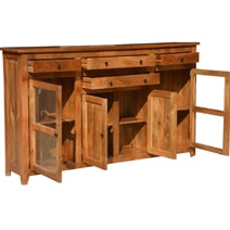 Williamsburg Rustic Solid Wood 4 Drawer Extra Large Sideboard Cabinet