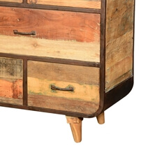 60's Retro Rustic Reclaimed Wood Industrial 6 Drawer Dresser