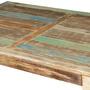 Rustic Parisian Mango Wood Coffee Table w V Shaped Legs