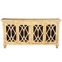 Diamond Grille Mango Wood Standing 4 Door Sideboard