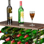 Parisian Café Mango Wood & Iron 24 Bottle Wine Rack Bar Table