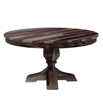 Hosford Handcrafted Solid Wood Round Pedestal Dining Table