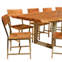 Live Edge Acacia Wood & Iron 117 Modern Dining Table & 10 Chairs