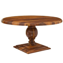 Cloverdale Solid Wood Pedestal 60 Round Dining Table