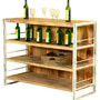 Modern Rustic Mango Wood Industrial Home Wine Bar Cabinet