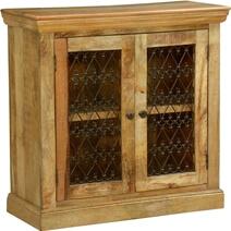 Bellevue Twisted Hearts Grille Mango Wood Freestanding Storage Cabinet
