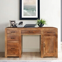 Sedona Classic Pedestal Storage Executive Desk with 5 Drawer n Cabinet