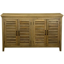 Oklahoma Mango Wood Shutter Door Large Buffet Cabinet