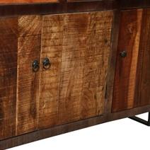 Oakland Rustic Mango Wood 4 Drawer Large Sideboard