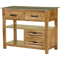 Pioneer Rustic Solid Mango Wood Console Table Work Station
