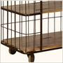 Fence Me In Mango Wood & Iron Rolling 3 Shelf Cart