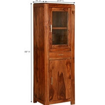 Allegany Solid Wood Freestanding Display Cabinet