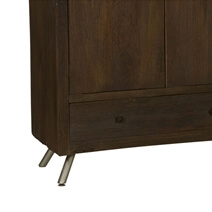 Modern Frontier Rustic Solid Wood Wardrobe Armoire With Drawer