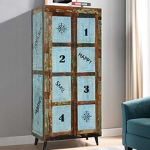 Happy Reclaimed Wood Rustic Storage Armoire Cabinet