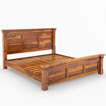 Modern Farmhouse Rustic Solid Wood Platform Bed