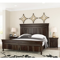 Jerold Modern Rustic Solid Wood Platform Bed