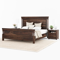 Pioneer Transitional Style Solid Wood Bed