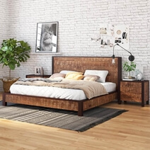 New Orleans Solid Wood Platform Bed Frame with Headboard