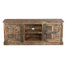 Morocco Rustic Reclaimed Wood TV Stand Media Cabinet