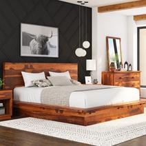 Delaware Solid Wood Platform Bed Frame