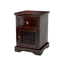 Madison Solid Wood 1 Drawer Nightstand Cabinet