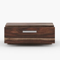 Hampshire Contemporary Solid Wood Nightstand w Drawer