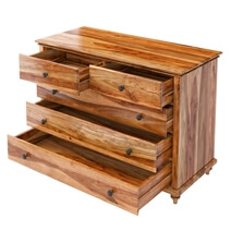 Livingston Solid Wood Rustic 5-Drawer Chest