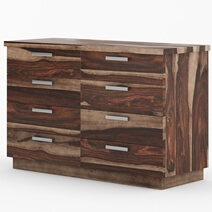 Hampshire Rustic Solid Wood Modern Bedroom Dresser With 8 Drawers