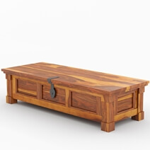 Modern Farmhouse Handcrafted Solid Wood Storage Trunk