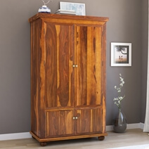 Pecos Mission Solid Wood Armoire Closet