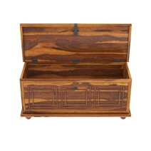 Pecos 54 Handcrafted Solid Wood Storage Trunk