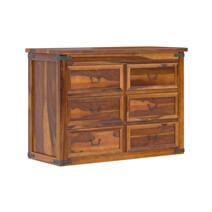 Classic Shaker Solid Wood Bedroom Dresser Chest With 6 Drawers