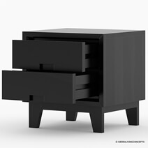 Modern Simplicity Mocha Solid Wood 2-Drawer Nightstand