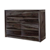 Modern Pioneer Solid Wood Bedroom Dresser Chest With 9 Drawers