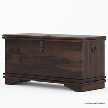 "Hartsville Modern Pioneer Solid Wood 48"" Bedroom Trunk"