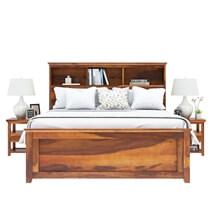 Mission Modern Solid Wood Platform Storage Bed