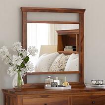 Mission Modern Solid Wood Standing Vanity Bedroom Mirror Frame