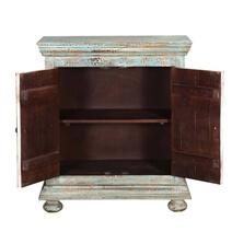 Brewster Rustic Blue Solid Wood 2 Door Storage Cabinet