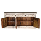 Monroe Rustic Solid Wood 3 Door 3 Drawer Extra Large Sideboard Cabinet