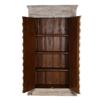 Diamond Gothic Distressed Solid Mango & Reclaimed Wood Large Armoire