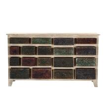 Impressionist Brick Wall Mango & Reclaimed Wood 18 Drawer Chest