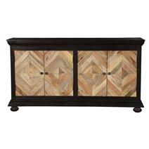 Hitchin Parquet Mango Wood Diamond Door Large Buffet Cabinet