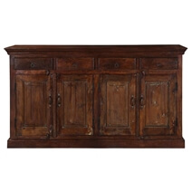 Willamette Rustic Solid Wood Farmhouse 4 Drawer Large Sideboard