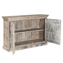 Willamette Distressed Mango Wood 2 Door Rustic Buffet Cabinet