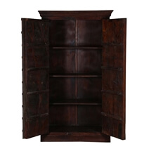 Duval Rustic Reclaimed Wood Storage Cabinet Armoire With Shelves