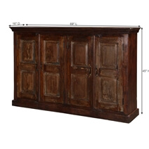 Stratton Traditional Rustic Mango Wood Large Buffet Cabinet