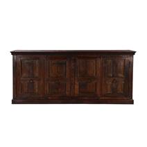 Logan Rustic Solid Wood 4 Shelf 4 Door Extra Long Buffet Cabinet