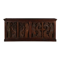 Artisan Carvings Mango Reclaimed Wood Extra Large Sideboard Cabinet