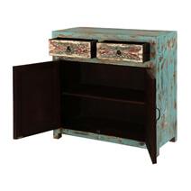 Avilla Fern Pattern 2 Door 2 Drawer Accent Storage Cabinet