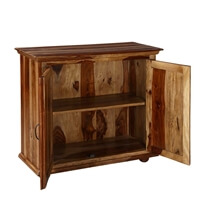 Dallas Ranch Rustic Solid Rosewood Freestanding Buffet Cabinet